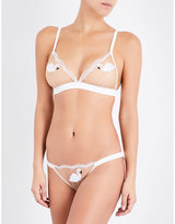 Mimi Holliday Swan Lake embroidered lace triangle bra