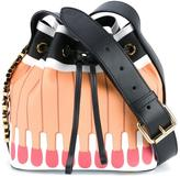Moschino 'It's lit' matchstick bucket shoulder bag