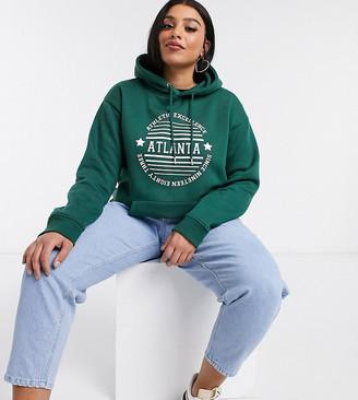 Daisy Street Plus oversized hoodie with atlanta print
