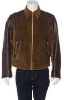 Dolce & Gabbana Corduroy & Leather Jacket