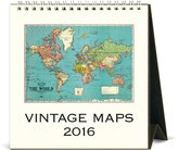 Cavallini & Co. CAL16-7 2016 Vintage Maps Desk Calendar