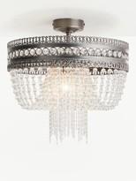 John Lewis & Partners Lucia Crystal Semi Flush Chandelier Ceiling Light, Clear