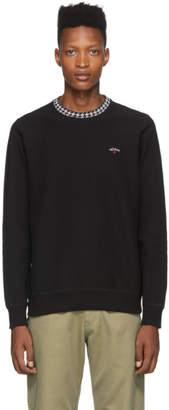 Noah NYC Black Houndstooth Collar Sweatshirt