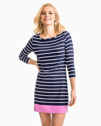 Southern Tide Coastline Striped Knit Performance Dress