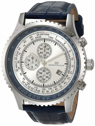Oceanaut Men's Actuator Stainless Steel Quartz Camping Watch with Leather Strap Blue 24 (Model: OC0314)
