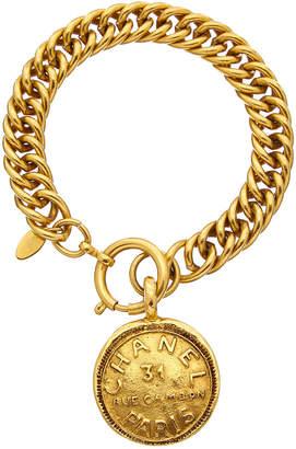 Chanel Gold-Tone Cambon Coin Bracelet
