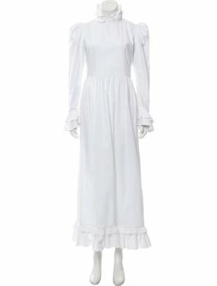 Batsheva Mock Neck Long Dress w/ Tags White