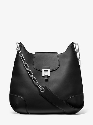 Michael Kors Bancroft Oversized Calf Leather Shoulder Bag