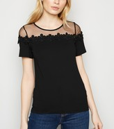 Thumbnail for your product : New Look Mesh Panel 3D Floral Top