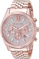 Michael Kors Men's Gold Tone Steel Bracelet & Case Quartz Watch Mk8580