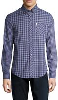 Ben Sherman Plaid Spread Collar Sportshirt