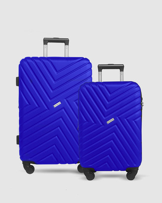 Jett Black Royal Blue Maze Short Stay Luggage Set