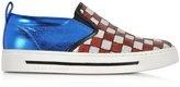 Marc Jacobs Mercer Red & White Checkerboard Sequins Sneaker