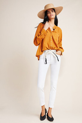 Edwin Pixie Mid-Rise Skinny Jeans By in White Size 29