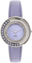 JCPenney FASHION WATCHES Womens Floating Stone See-Through Watch