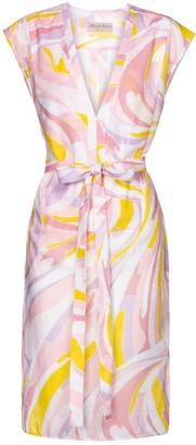 Emilio Pucci Beach Printed cotton midi dress