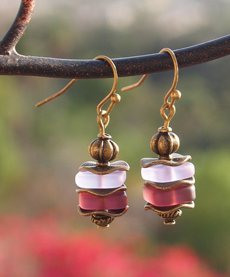 Boho Treasures By Wise Creations Boho Treasures by Wise Creations Women's Earrings PURPLE, - Purple Glass & Goldtone Drop Earrings