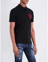 Philipp Plein Skull-embellished Cotton-jersey Polo Shirt