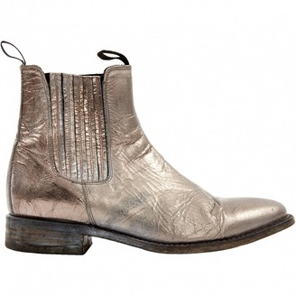 N. Non Signé / Unsigned Non Signe / Unsigned \N Silver Leather Boots