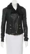 Veda Shearling-Lined Leather Jacket