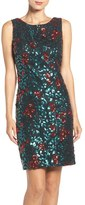 Chetta B Sequin Floral Sheath Dress