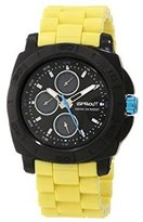 Sprout Men's ST/3800BKYL Yellow Corn Resin Water Resistant Multi-Function Watch