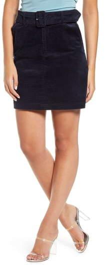 Vero Moda Levi Cotton Corduroy Miniskirt