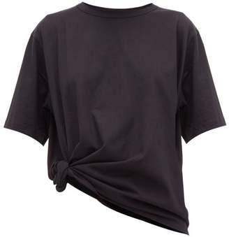 Vika Gazinskaya Oversized Knotted Cotton T-shirt - Womens - Black