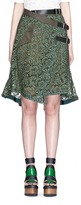Sacai Guipure lace belted wrap skirt