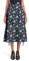 Toga Women's Floral Print Fringe Midi Skirt