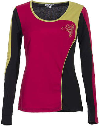 Coline Women's Tee Shirts Fuchsia - Fuchsia Color Block Long-Sleeve Tee - Women