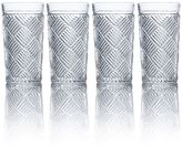 Mikasa Ballard Braid 4-pc. Highball Glass Set