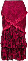 Romance Was Born 'Crimson Magnolia' skirt - women - Silk/Cotton/Nylon - 6