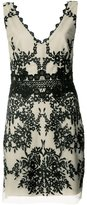 Nicole Miller embroidered V-neck dress - women - Polyester - 4