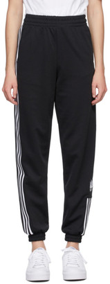 adidas Black Adicolor 3D Trefoil Track Pants