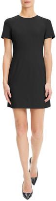 Theory Jatinn Short-Sleeve Good Wool Suiting Dress
