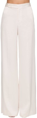 Ralph Lauren Collection High Waist Satin Wide Leg Pants