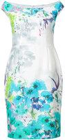 Black Halo off shoulder floral dress - women - Cotton/Spandex/Elastane - 0