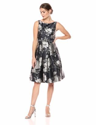 Eliza J Women's Jacquard Fit and Flare Dress