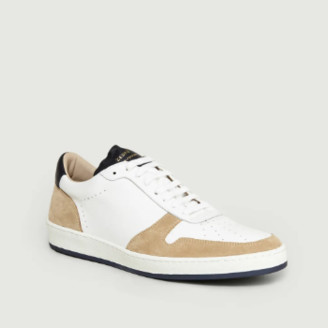 Zespà White and Beige Leather ZSP23 Sneakers - 39 | leather | White and Beige