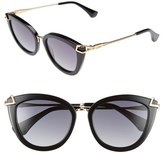 Women's Sonix Melrose 51Mm Gradient Cat Eye Sunglasses - Black Fade/ Black