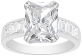 Bliss Cubic Zirconia & Sterling Silver Radiant-Cut Ring
