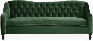 Kim Salmela Waverly Tufted Sofa - Emerald Velvet