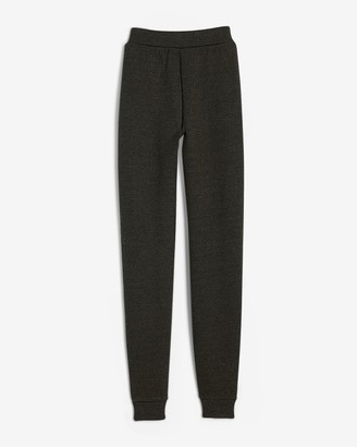 Express High Waisted Heathered Heavyweight Stretch Knit Joggers