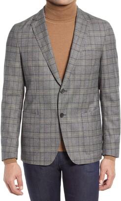 HUGO BOSS Nolvay Slim Fit Stretch Plaid Wool Sport Coat