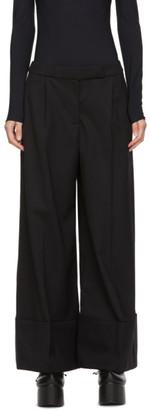 Simone Rocha Black Fine Wool Wide-Leg Trousers
