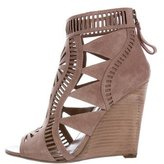 Sergio Rossi Laser-Cut Wedge Sandals