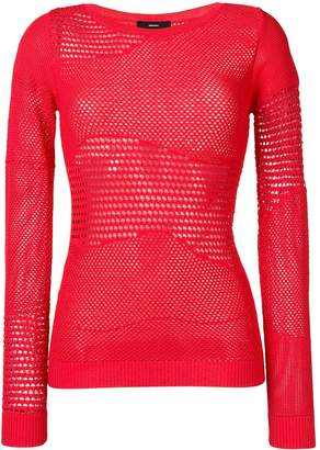 Diesel pointelle knitted jumper
