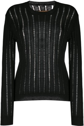 UMA WANG Sheer Ribbed-Knit Jumper