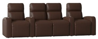Latitude Run Home Theater Row Seating (Row of 4 Body Fabric: Ultra Camel